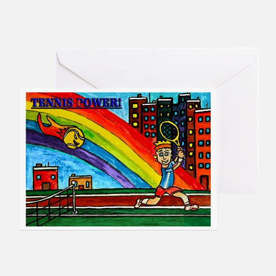 Tennis Power Greeting Cards