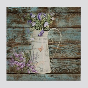 rustic lavender western country  Tile Coaster