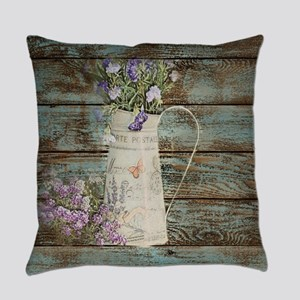 rustic lavender western country  Everyday Pillow