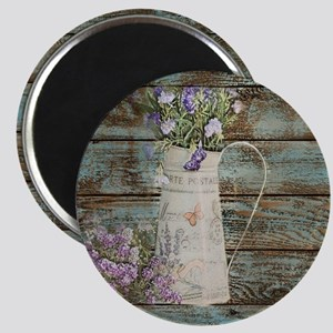 rustic lavender western country  Magnet