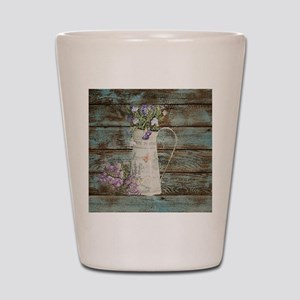 rustic lavender western country  Shot Glass