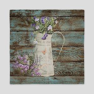 rustic lavender western country  Queen Duvet