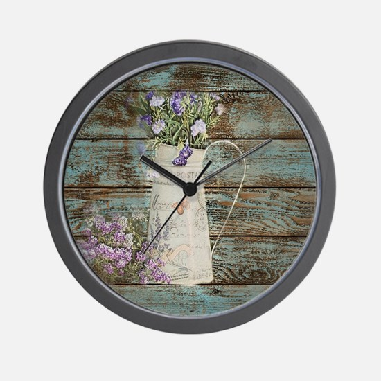 rustic lavender western country  Wall Clock