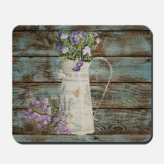 rustic lavender western country  Mousepad