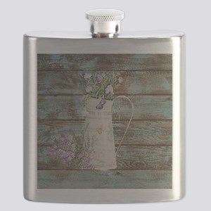 rustic lavender western country  Flask