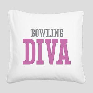Bowling DIVA Square Canvas Pillow