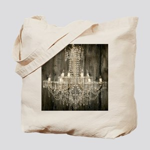 shabby chic rustic chandelier Tote Bag