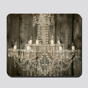 shabby chic rustic chandelier Mousepad