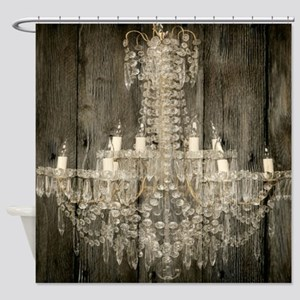 shabby chic rustic chandelier Shower Curtain