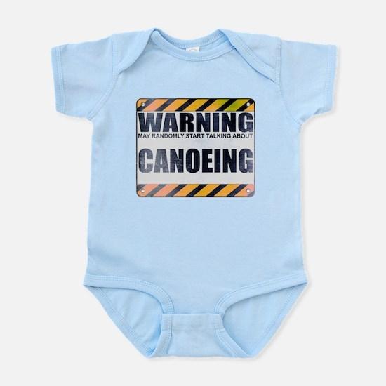 Warning: Canoeing Infant Bodysuit