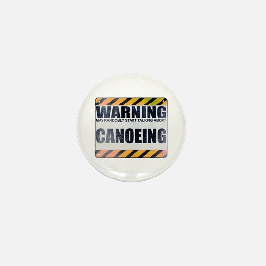 Warning: Canoeing Mini Button