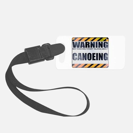 Warning: Canoeing Luggage Tag