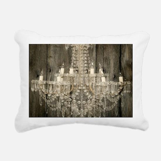shabby chic rustic chand Rectangular Canvas Pillow