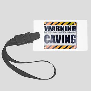 Warning: Caving Large Luggage Tag