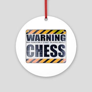 Warning: Chess Round Ornament