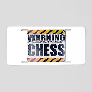 Warning: Chess Aluminum License Plate