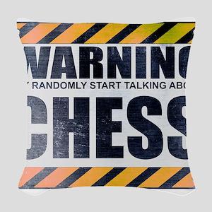 Warning: Chess Woven Throw Pillow