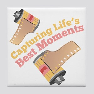Capturing Moments Tile Coaster