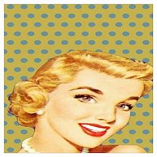 vintage pattern pin up girl Poster