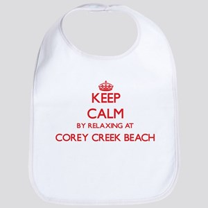 Keep calm by relaxing at Corey Creek Beach New Bib
