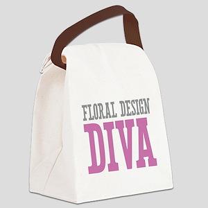Floral Design DIVA Canvas Lunch Bag