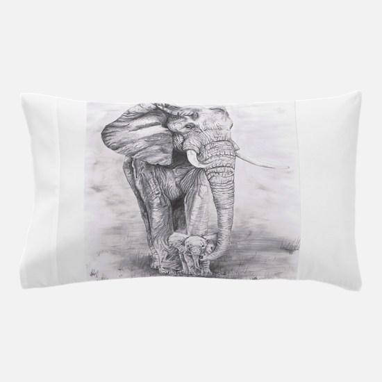 African Elephants Pillow Case
