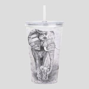 African Elephants Acrylic Double-wall Tumbler