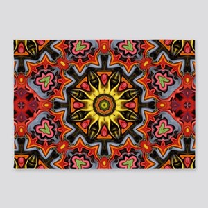 yellow sun tribal sun pattern 5'x7'Area Rug