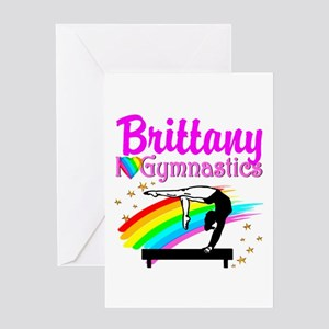 LOVELY GYMNAST Greeting Card