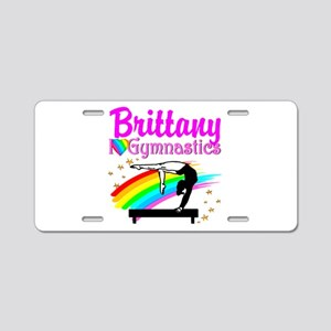 LOVELY GYMNAST Aluminum License Plate