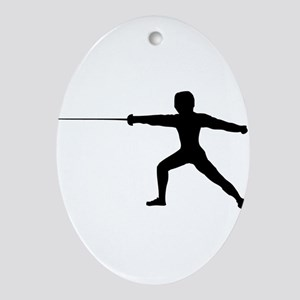 Guy Fencer Oval Ornament