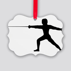 Guy Fencer Picture Ornament
