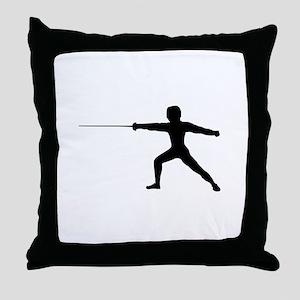 Guy Fencer Throw Pillow