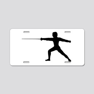 Guy Fencer Aluminum License Plate