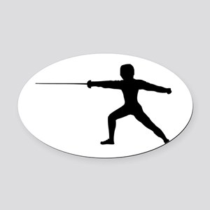 Guy Fencer Oval Car Magnet