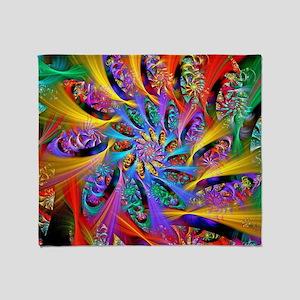 Spiral Regeneration Throw Blanket