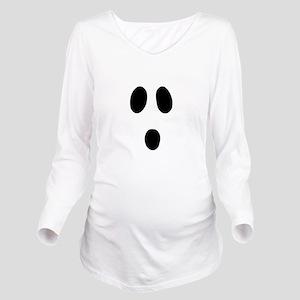 Boo Face Long Sleeve Maternity T-Shirt