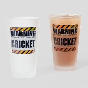 Warning: Cricket Drinking Glass