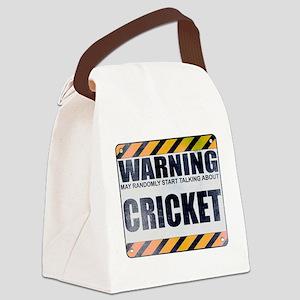 Warning: Cricket Canvas Lunch Bag