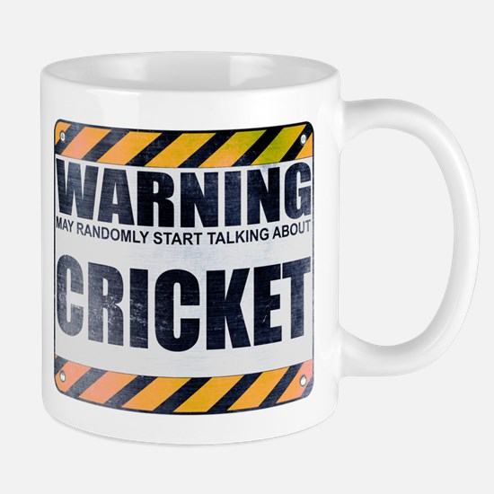 Warning: Cricket Mug