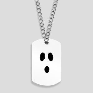 Boo Face Dog Tags