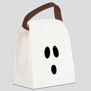 Boo Face Canvas Lunch Bag