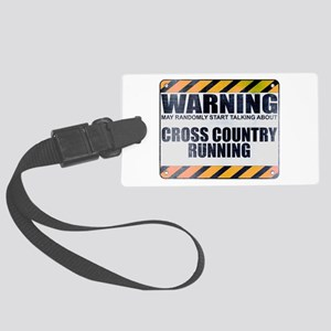 Warning: Cross Country Running Large Luggage Tag