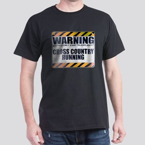 Warning: Cross Country Running Dark T-Shirt
