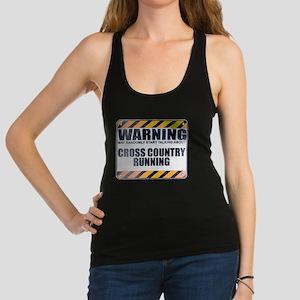 Warning: Cross Country Running Dark Racerback Tank