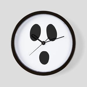 Boo Face Wall Clock