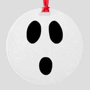 Boo Face Round Ornament