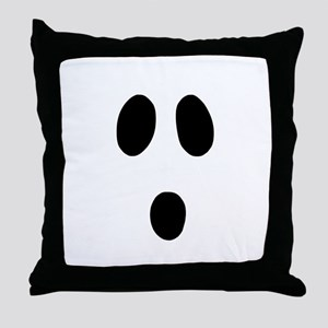 Boo Face Throw Pillow