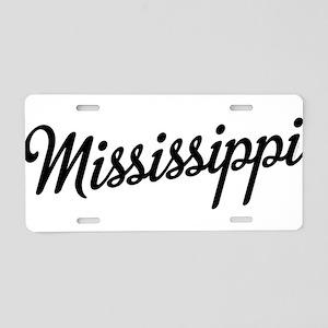 Mississippi Script Aluminum License Plate
