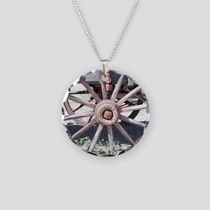 Wagon Wheel Necklace Circle Charm